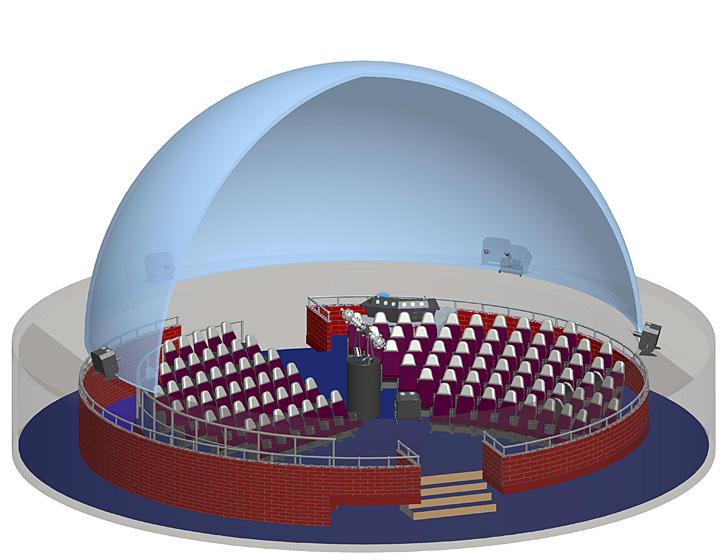 Planetarium layout